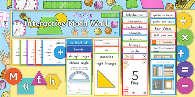 Interactive Math Wall PK - 5 Display Pack