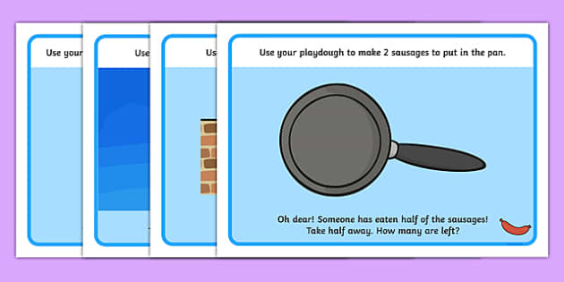 Halving Playdough Mats - halving, maths, palydough, mat, activity, halves, numeracy, adding, multiplication, calculation, foundation numeracy