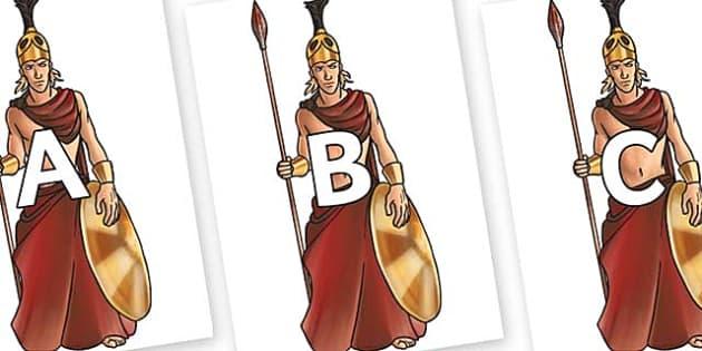 A-Z Alphabet on Ares - A-Z, A4, display, Alphabet frieze, Display letters, Letter posters, A-Z letters, Alphabet flashcards