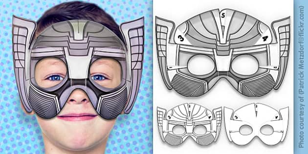 3D Mythical Superhero Mask Printable - 3d, mythical, superhero, mask, printable, thor, superheroes, avengers