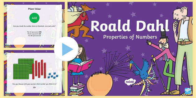 Place Value Roald Dahl Themed Year 2 Incidental Welsh PowerPoint - Foundation Phase Profile, Properties of Number Resource, Place Value, Incidental Welsh, Welsh, Numbe