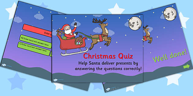 Christmas Quiz PowerPoint Editable - christmas, powerpoint, xmas