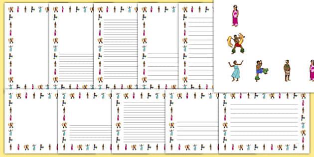 Samoan Language Week Page Border Pack