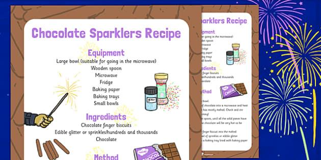 Chocolate Sparklers Recipe - chocolate, sparklers, recipe, eyfs
