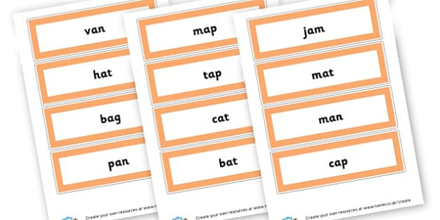 CVC a Word Cards - CVC Words Primary Resources, CVC, consonant, vowel, CVC word