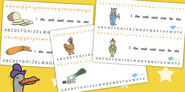 Alphabet Strips to Support Teaching on What's The Time, Mr Wolf? - alphabet, strips, wolf