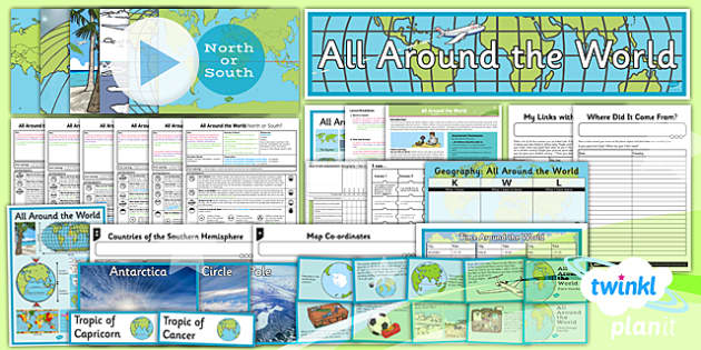 LKS2 All around the world Primary Resources - Geography LKS2 Prim
