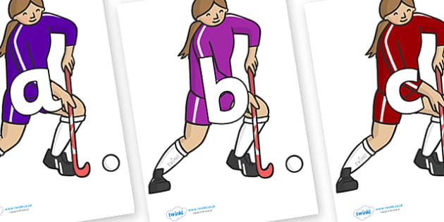 Phoneme Set on Hockey Players - Phoneme set, phonemes, phoneme, Letters and Sounds, DfES, display, Phase 1, Phase 2, Phase 3, Phase 5, Foundation, Literacy
