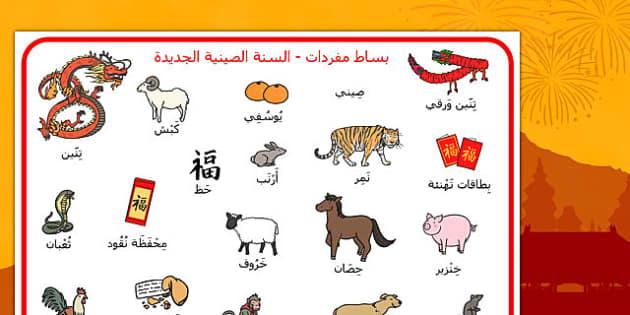بساط مفردات السنة الصينية الجديدة - وسائل تعليمية، موارد تعلم