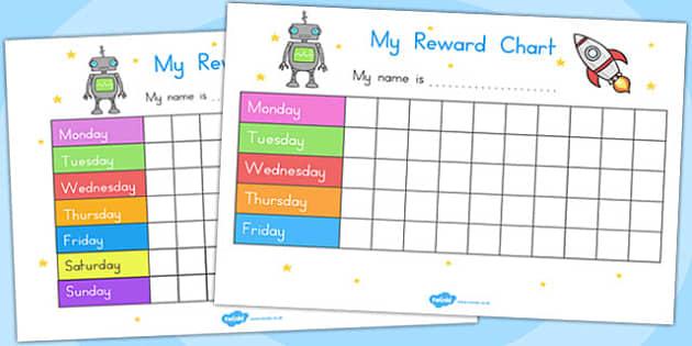 My Reward Chart Space - australia, reward, chart, space, rewards