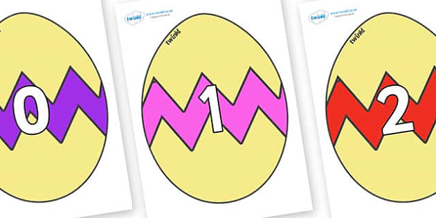 Numbers 0-100 on Easter Eggs (Cracked) - 0-100, foundation stage numeracy, Number recognition, Number flashcards, counting, number frieze, Display numbers, number posters