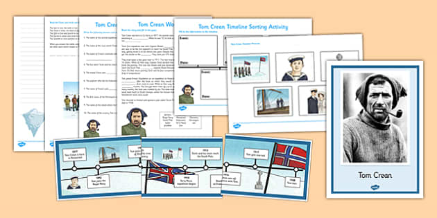 Tom Crean Resource Pack - Tom Crean, Irish History, South Pole, Antarctica, resource pack