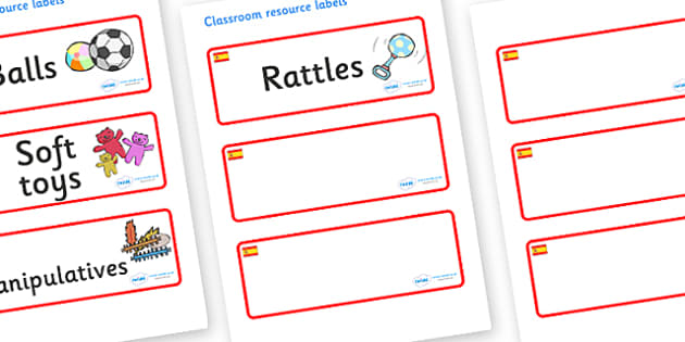 Spain Themed Editable Additional Resource Labels - Themed Label template, Resource Label, Name Labels, Editable Labels, Drawer Labels, KS1 Labels, Foundation Labels, Foundation Stage Labels, Teaching Labels, Resource Labels, Tray Labels, Printable la