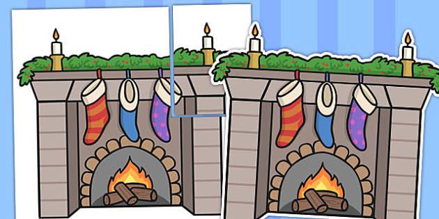 Large Fireplace Display - fireplace, display, classroom display