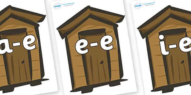 Modifying E Letters on Sheds - Modifying E, letters, modify, Phase 5, Phase five, alternative spellings for phonemes, DfES letters and Sounds