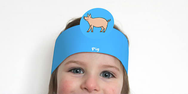 Role Play Headbands to Support Teaching on Pig in the Pond - roleplay, props, story book