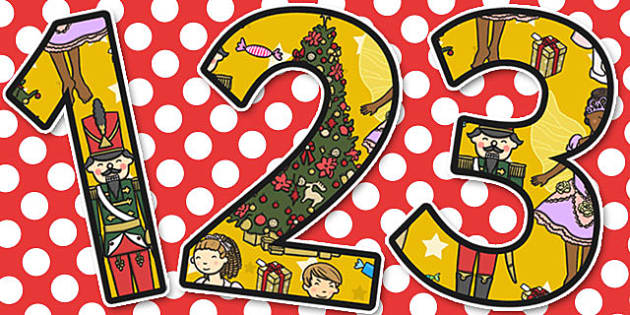 The Nutcracker Themed A4 Display Numbers - nutcracker, display