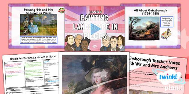 PlanIt - Art LKS2 - British Art Lesson 2: Painting Landscape in Pieces Lesson Pack