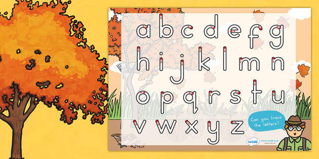Autumn Themed Letter Writing Worksheet - writing aid, literacy