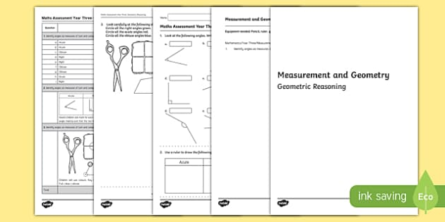 Year 3 Measurement and Geometry Geometric Reasoning Assessment - australia, year 3, measurement and geometry, measurement, geometry, geometric reasoning, assessment