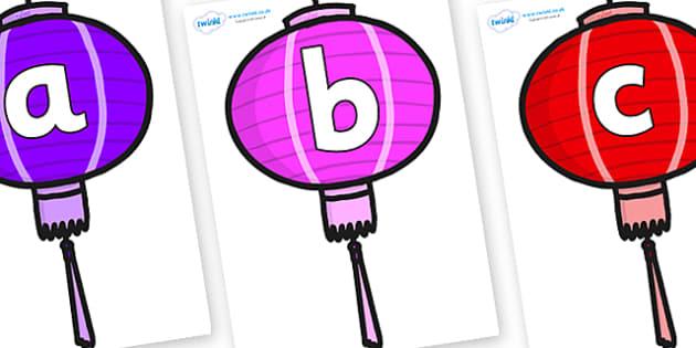 Phoneme Set on Chinese Lanterns (Multicolour) - Phoneme set, phonemes, phoneme, Letters and Sounds, DfES, display, Phase 1, Phase 2, Phase 3, Phase 5, Foundation, Literacy