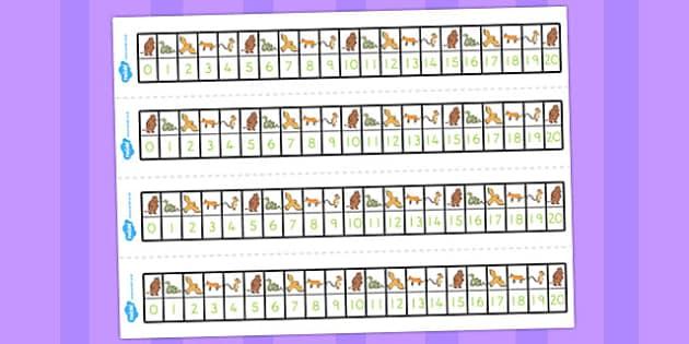 The Gruffalo Number Track 0-20 - australia, gruffalo, number
