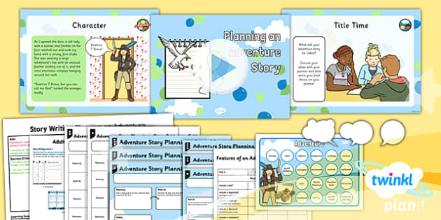 PlanIt Y2 Up Lesson Pack Story Writing (1) - explorers, adventure, story, stories, film, Up, plan