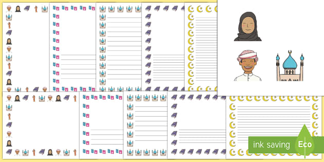 Eid Topic Page Borders - Eid, festival, celebration, Islam, muslim, Eid, Eid-Ul-Fitr, Quran, Salat, henna, fasting