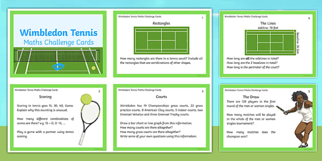 LKS2 Wimbledon Maths Challenge Cards