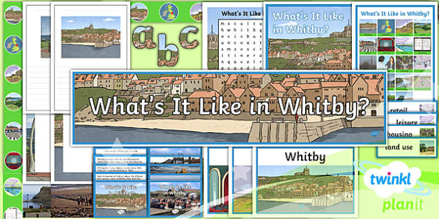 PlanIt Geography Y4 - What's It Like in Whitby - Additional Resources - geography, UK, compare, Whitby, contrasting, location, physical, human, coast, seaside, Yorkshire, county, map