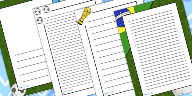 Football Page Borders - Football Border, Page Border, Fun Borders, Football Topic, Soccer, Foundation stage, literacy, Themed Border
