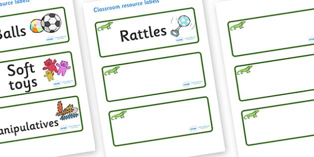 Iguana Themed Editable Additional Resource Labels - Themed Label template, Resource Label, Name Labels, Editable Labels, Drawer Labels, KS1 Labels, Foundation Labels, Foundation Stage Labels, Teaching Labels, Resource Labels, Tray Labels, Printable l