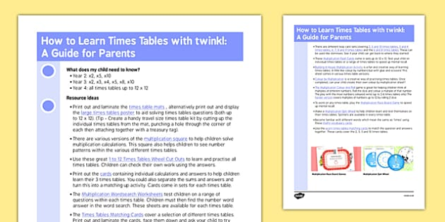How to Learn Times Tables with Twinkl: a Guide for Parents - bond, times table, times tables