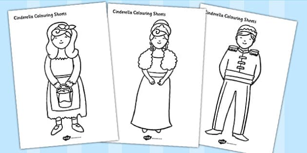 Cinderella Colouring Sheets - cinderella, colouring, sheets