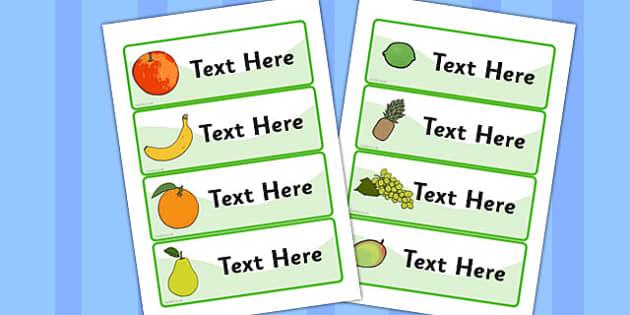 Editable Drawer - Peg - Name Labels (Fruit) - Resource Labels, Name Labels, Editable Labels, Drawer Labels, Coat Peg Labels, Peg Label, KS1 Labels, Foundation Labels, Foundation Stage Labels, Teaching Labels, Resource Labels, Tray Labels, Printable l