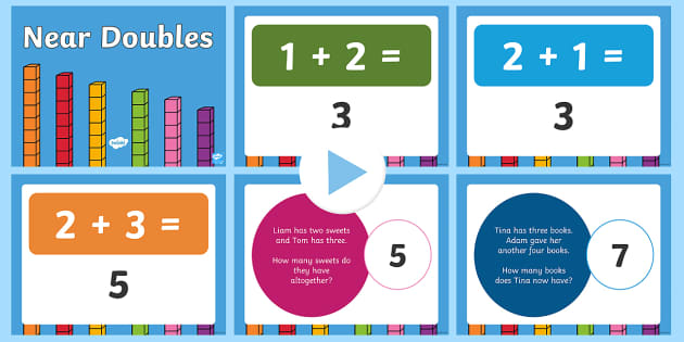 Near Doubles Warm-Up and Revision PowerPoint - Mental Maths Warm Up + Revision - Northern Ireland, doubles, near doubles, powerpoint.