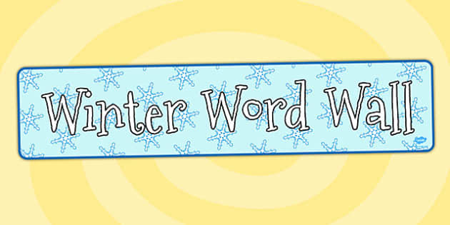 Winter Word Wall Display Banner - winter, word, wall, display