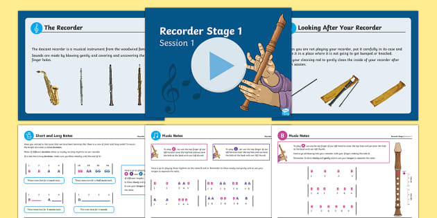 Recorder Stage 1 Resource Pack - Recorder, music, new curriculum, sheet musics, KS2, Performing and Composing