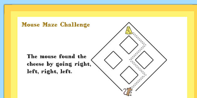 A4 KS1 Mouse Maze Maths Challenge Poster - Mouse, Maze, Challenge