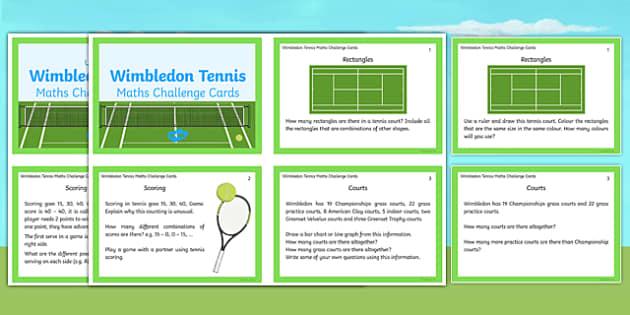 Wimbledon Maths Challenge Cards