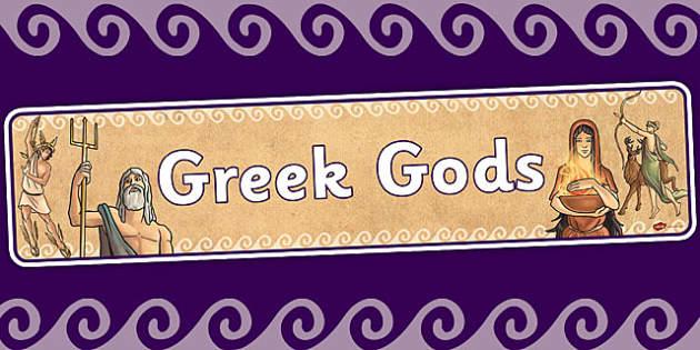 Ancient Greek Gods Display Banner - ancient greece, greek, header