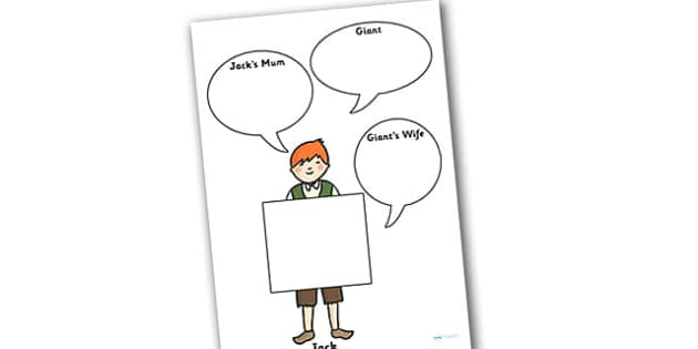 Jack and the Beanstalk Role on the Wall Worksheets - jack and the beanstalk, role on the wall, worksheets, jack and the beanstalk worksheets, role play