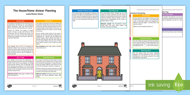 The Home Aistear Planning Template - Aistear, Infants, English Oral Language, School, The Garda Station, The Hairdressers, The Airport, T