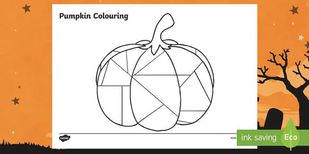 Pumpkin Motor Skills Colouring Activity Sheet