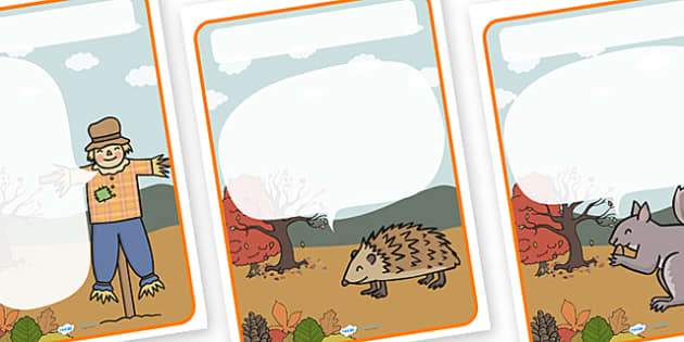 Autumn Themed Target Posters Large Speech Bubble - autumn, autumn themed, target posters, targets, class targets, themed targets, class management, posters