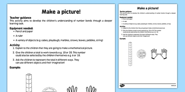 Make a Picture Representing a Number Teaching Ideas