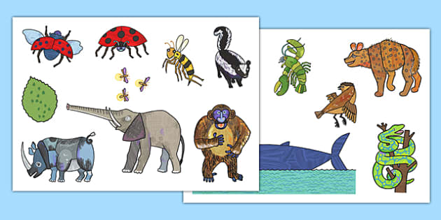 Story Cut Outs to Support Teaching on The Bad Tempered Ladybird - story books, stories