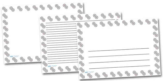 CDs Landscape Page Borders- Landscape Page Borders - Page border, border, writing template, writing aid, writing frame, a4 border, template, templates, landscape