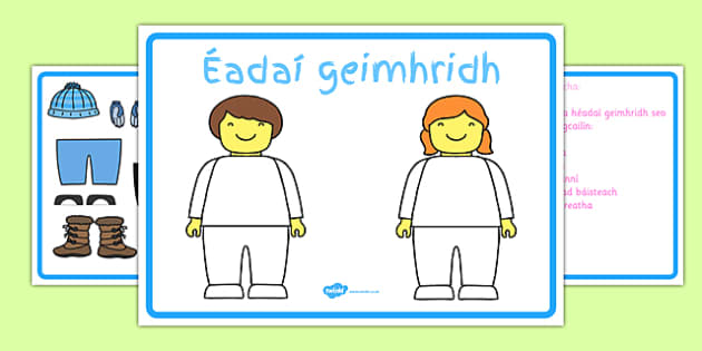 Winter Clothes Dress Up Language Game Gaeilge -Irish , Gaeilge , Listening, dress up , winter, clothes, game, Geimhreadh