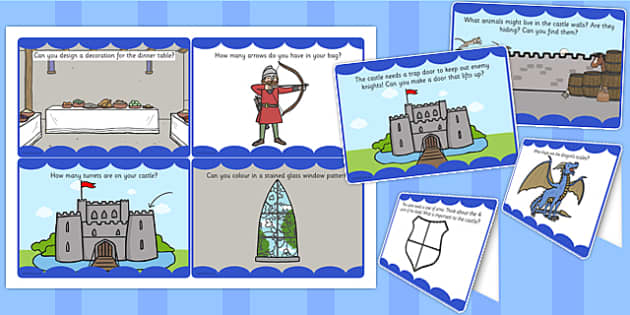 Medieval Castle Role Play Challenge Cards - challenge cards